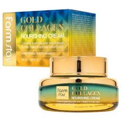 Питательный крем с золотом и коллагеном Gold Collagen Nourishing Cream FarmStay