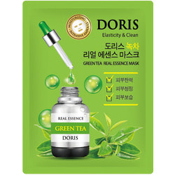 Тканевая маска для лица с экстрактом зеленого чая Green Tea Real Essence Mask Doris