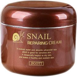 Восстанавливающий крем с экстрактом слизи улитки Snail Reparing Cream Jigott