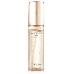 Премиальная сыворотка для лица с пептидами и золотом Premium Gold Collagen Ampoule Elishacoy