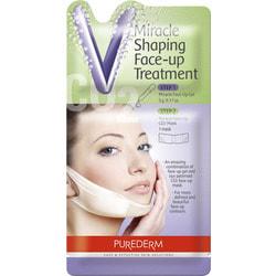 Корректирующая лифтинг маска для зоны подбородка Purederm Miracle Shaping Face Up Treatment