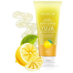 Скраб для тела с экстрактом цитрона Around Me Natural Perfume Vita Body Scrub Yuja Welcos