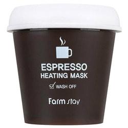 Согревающая маска для лица с экстрактом кофе Espresso Heating Mask FarmStay