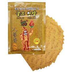 Противовоспалительный пластырь с женьшенем Korean Gold Insam