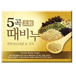 Косметическое мыло скраб с комплексом из 5 экстрактов злаков Five Grains Scrub Mukunghwa