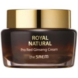 Омолаживающий крем для лица с экстрактом женьшеня Royal Natural Pro Red Ginseng Cream The Saem