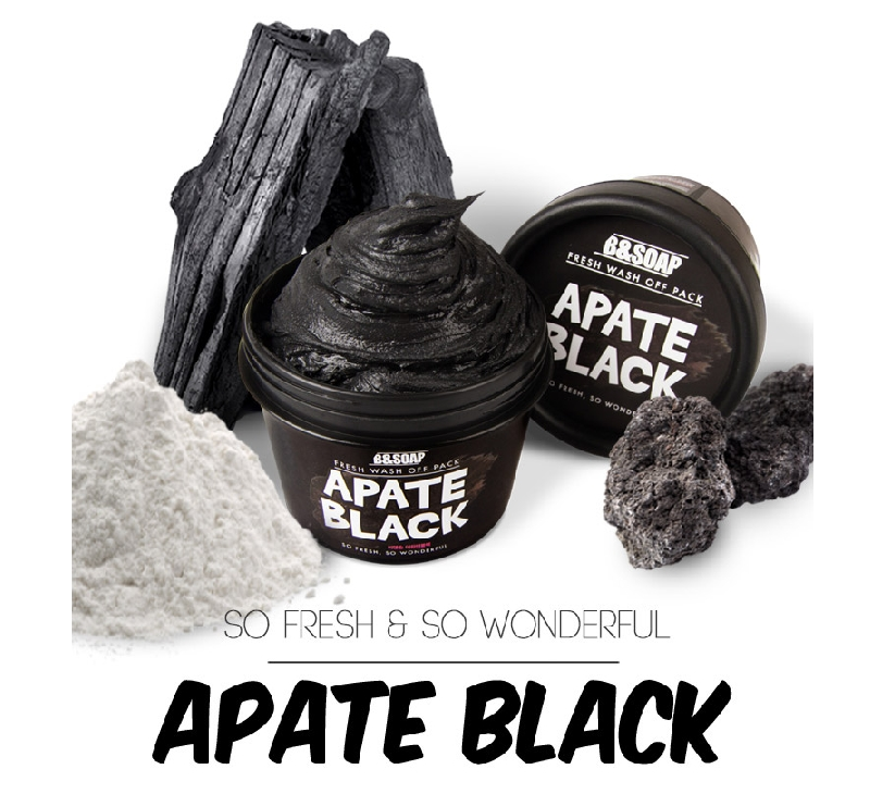 Очищающая маска для лица B&SOAP Fresh Wash Off Pack Apate Black