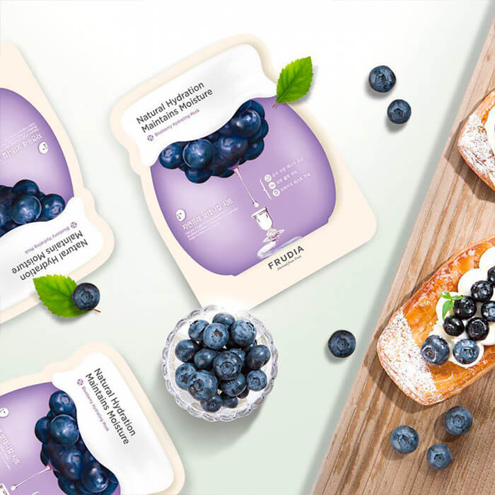 Набор тканевых масок с черникой Frudia Blueberry Hydrating Mask